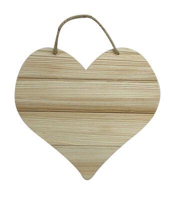 Unfinished Wood 6.5X7 Heart-Cedar Look