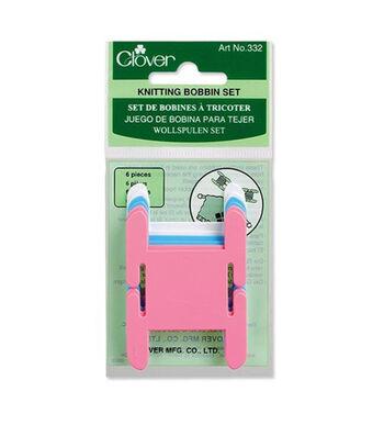 "Plastic Knitting Bobbins-6/Pkg 1-1/2""X2-1/2"""