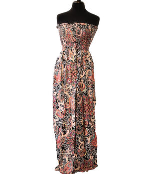 Style In An Instant Rayon Challis Smocked Fabric -Boho Floral Paisley