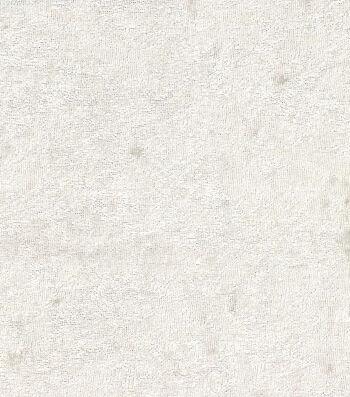 "Glitterbug Solid Crushed Panne Fabric 58""-White"