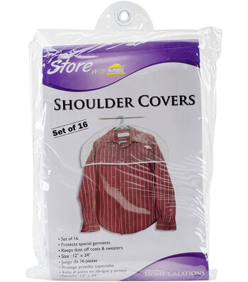 "Shoulder Covers 16 Pack 12""X24""-Clear"