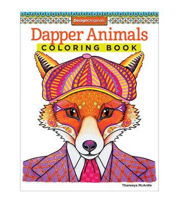 Adult Coloring Book-Design Originals Dapper Animals