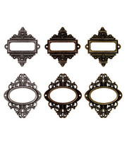 Tim Holtz Idea-Ology Ornate Plates Antique Metallic, , hi-res