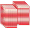 Red Small Vertical Incentive Chart, Pack of 12