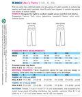 Kwik Sew Mens Pants-K3663