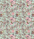 Snuggle Flannel Fabric-Birds And Flowers