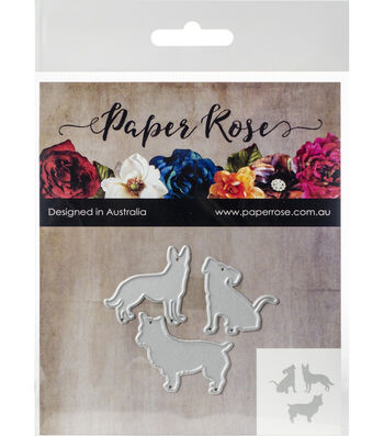 Paper Rose 3 pk Metal Dies-Little Dogs