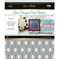 Deco Foil 4 pk 8.5\u0027\u0027x11\u0027\u0027 Clear Designer Toner Sheets-Groovy