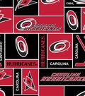 Carolina Hurricanes Fleece Fabric 60\u0027\u0027-Block