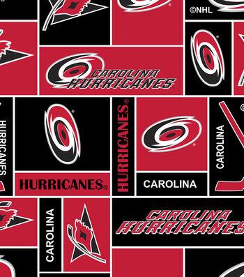 Carolina Hurricanes Fleece Fabric 60''-Block