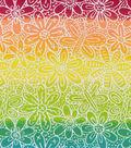 Snuggle Flannel Fabric -Flowers & Butterflies on Tie Dye