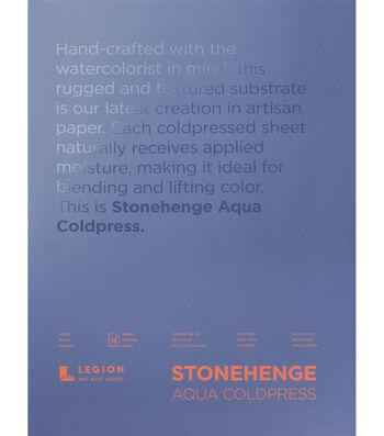 Stonehenge Aqua Coldpress 15-sheet 12''x16'' 140 lbs. Paper Pad-White