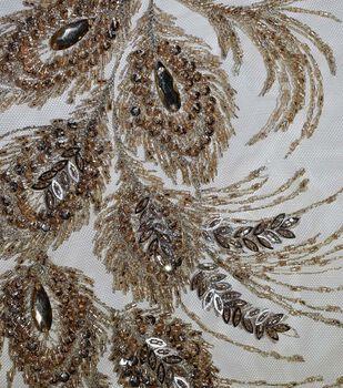 "Gianna Hand Beaded Jewel Embroidered Mesh Fabric 51"""