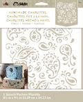 FolkArt Handmade Charlotte 8.5\u0027\u0027x9.5\u0027\u0027 Stencil-Paisley Delight