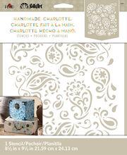 FolkArt Handmade Charlotte 8.5''x9.5'' Stencil-Paisley Delight, , hi-res