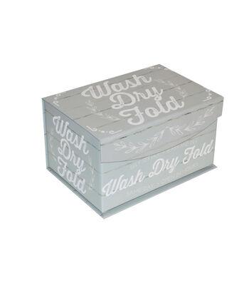 Small Fliptop Storage Box-Laundry Co & Wash Dry Fold