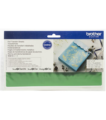 Brother ScanNCut SDX125 Foil Transfer Sheets-Green