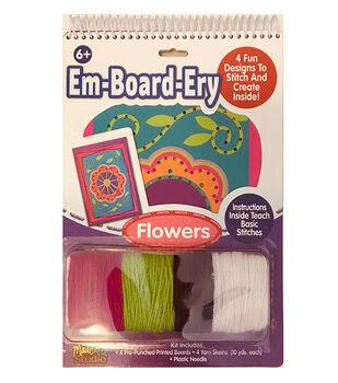 Made4U Studio Em-Board-Ery Kit-Flowers