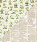 Beginnings Double-Sided Cardstock 12\u0022X12\u0022-Vintage Scenes & Dictionary