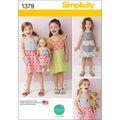 Simplicity Pattern 1379A 3-4-5-6-7--Child Dresses