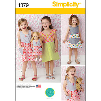 Simplicity Pattern 1379A 3-4-5-6-7--Child Dresses