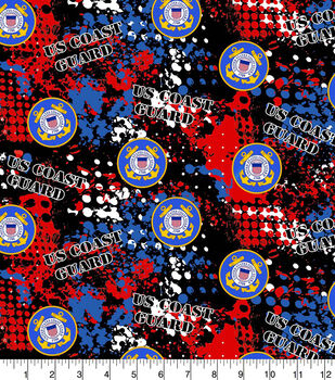 Coast Guard Cotton Fabric-Abstract Geo Logo