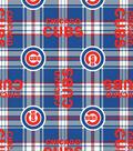 Chicago Cubs Fleece Fabric 58\u0027\u0027-Plaid