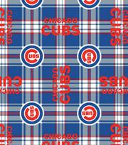 Chicago Cubs Fleece Fabric -Plaid, , hi-res