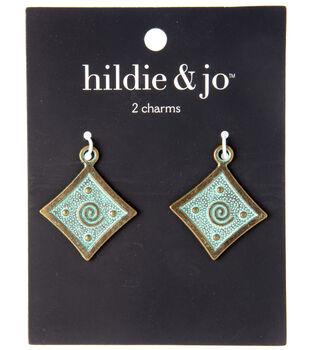 hildie & jo Charm Zinc Alloy 27x32mm-Diamond Patina