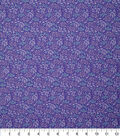 Novelty Cotton Fabric-Tiny Coral Lavender