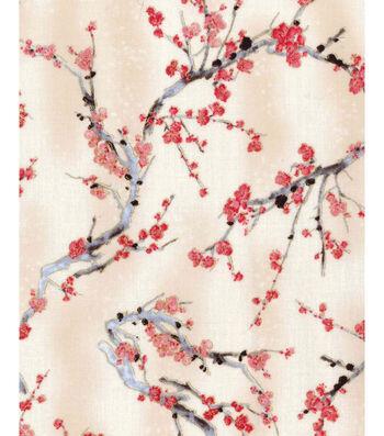 "Premium Cotton Fabric 44""-Cherry Blossom Trees"
