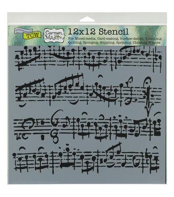 Crafter's Workshop Carmen Medlin 12''x12'' Stencil-Sheet Music