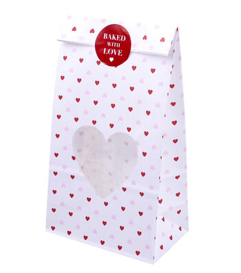 Valentine's Day Treat Bag-Allover Hearts