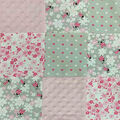 Nursery Quilt Fabric-Lady Bugs Patchwork