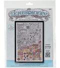Zenbroidery Stamped Embroidery 10\u0022X16\u0022-Cubist