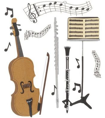 Jolee's Boutique Themed Ornate Stickers-Music