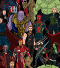 Marvel Avengers Infinity War Cotton Fabric