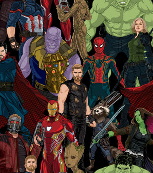 Marvel Avengers Infinity War Cotton Fabric