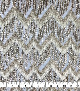 Casa Embellish Dahlia Fabric-Chevron Sequin Fringe