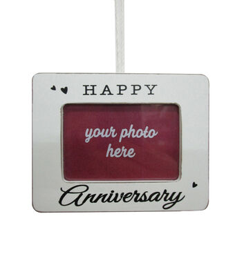 Maker's Holiday Christmas Frame Ornament-Happy Anniversary