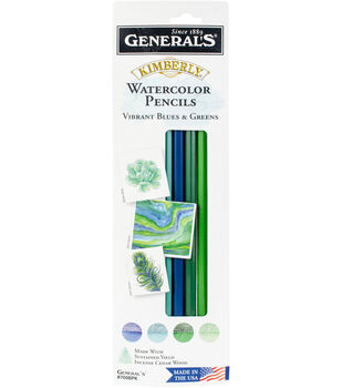 Kimberly Watercolor Pencils 4/Pkg-Cool - Blues & Greens
