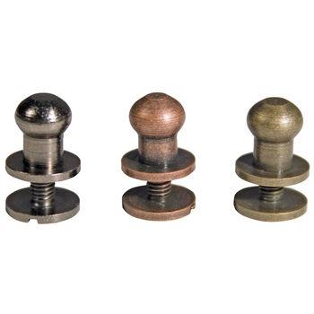 "Idea-Ology 2-Part .375"" Hitch Fasteners-12/Pkg - 4ea Antique Nickel/Brass/Copper"