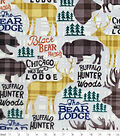 Snuggle Flannel Fabric -Black Bear Ranch