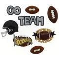 Jesse James Dress It Up Sports Button Embellishments-Football