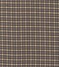 Homespun Cotton Fabric  -Blue Cream Plaid