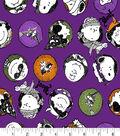 Peanuts Halloween Flannel Fabric 42\u0022-Trick Or Treat