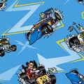 Disney Mickey & Friends Cotton Fabric -Racing