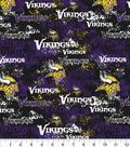 Minnesota Vikings Cotton Fabric -Distressed