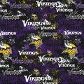 Minnesota Vikings Cotton Fabric-Distressed