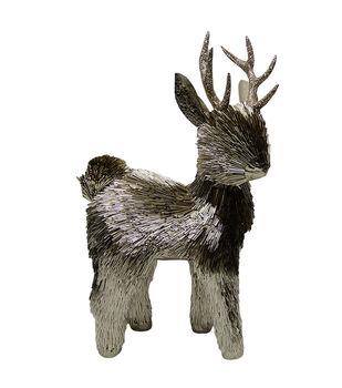 Handmade Holiday Christmas Metallic Bead Standing Deer